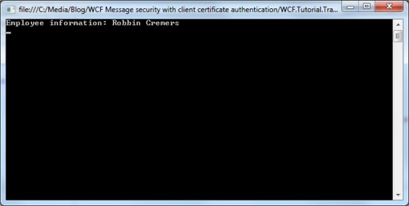 WCF message security and client certificate authentication with self