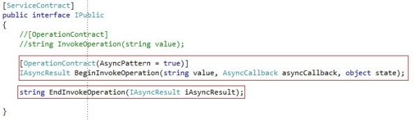WCF Service Asynchronous operation asyncpattern Begin End