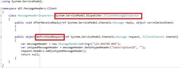 IClientMessageInspector WCF message inspector