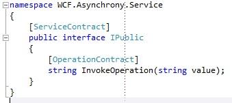 WCF Service interface