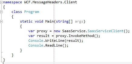 WCF client proxy with message header
