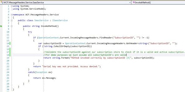 How to write custom service behavior in wcf