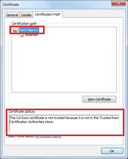 Certificate root path