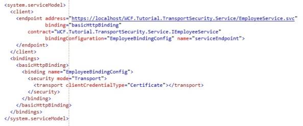 WCF Client Configuration