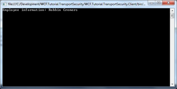 WCF Transport Security with client credential authentication