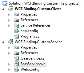 WCF Custom binding solution overview