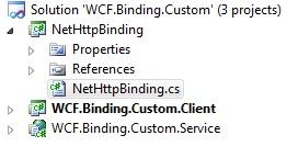 WCF custom binding class library