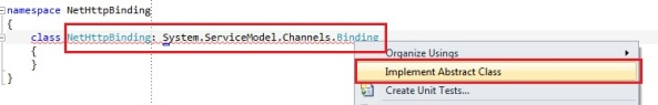 WCF custom binding inherit from System.ServiceModel.Channels.Binding