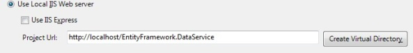 WCF Odata REST service with Entity Framework