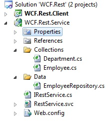 WCF Rest service with XML and JSON