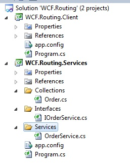 WCF Content based Routing