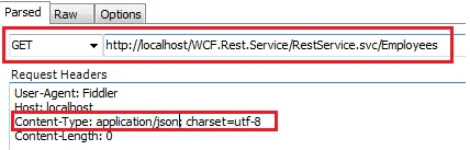WCF REST service content-type application/json