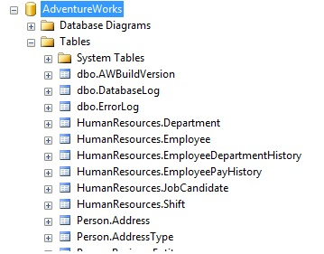 Adventureworks Entity Framework