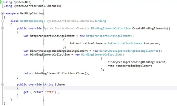 Custom Binding with System.ServiceModel.Channels.Binding