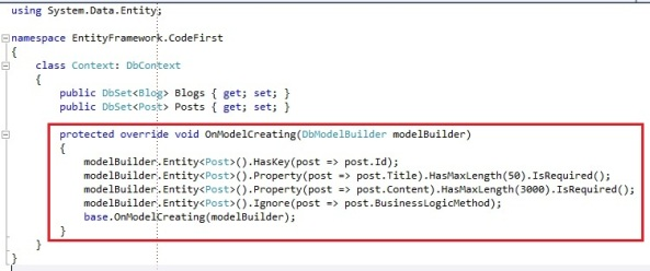 Entity Framework Code First OnModelCreating