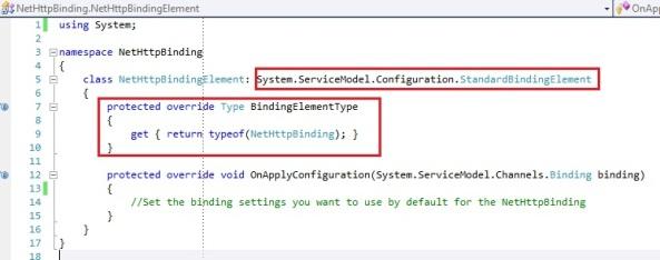 WCF custom binding System.ServiceModel.configuration.StandardBindingElement