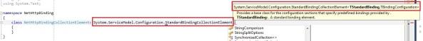 StandardBindingCollectionElement with standardbinding and bindingconfiguration