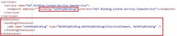 Custom binding bindingExtension