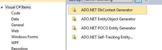 ADO.NET DbContext Generator