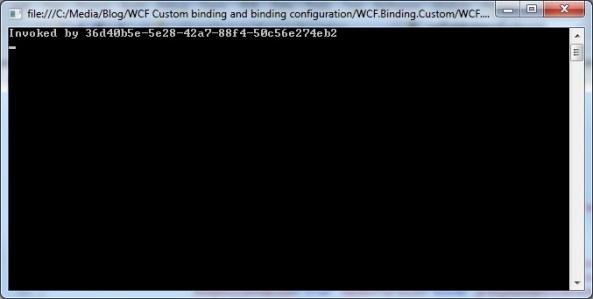 WCF custom binding client