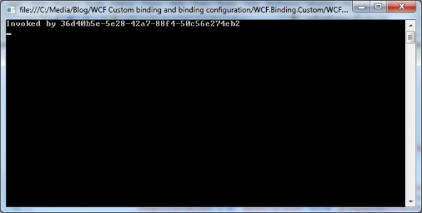 WCF custom binding client