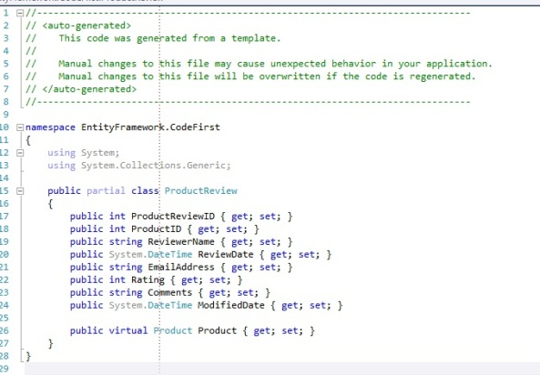 Entity Framework Code First existing database