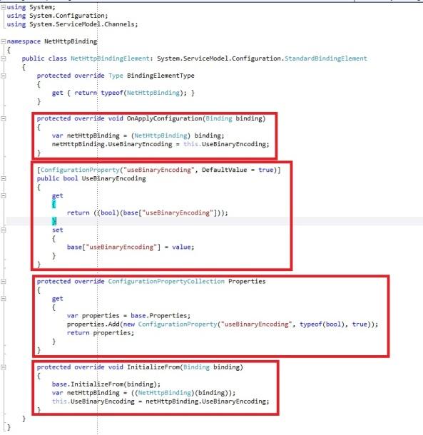 WCF custom binding custom configurationProperty