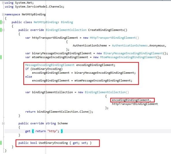 WCF custom binding createBindingElements