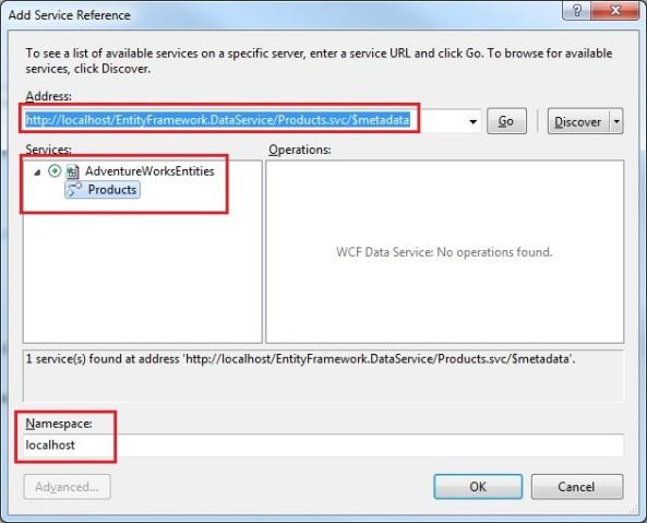 WCF Odata service client DataSvcUtil