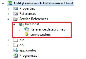 Client library for WCF Data Service