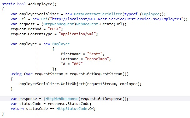 wcf rest service with xml json response format according to