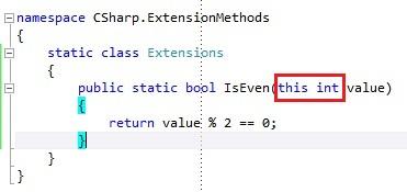 C# Extension methods