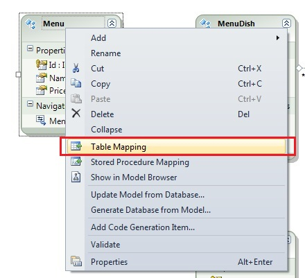 Entity Framework CS mappings