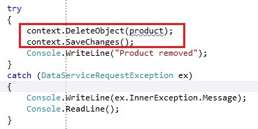 Entity Framework exposed WCF Service