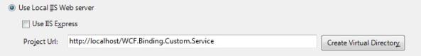 Host WCF service IIS virtual directory