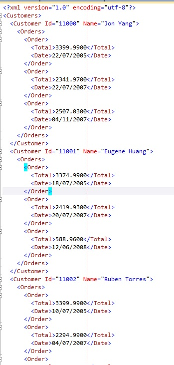 using linq to xml with xdocument xelement xattribute and
