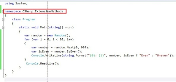 C# Extension Methods