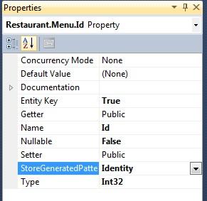 Entity Framework entity property details