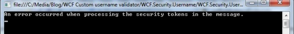WCF custom username and password authentication