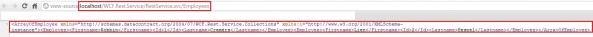 WCF REST service XML response