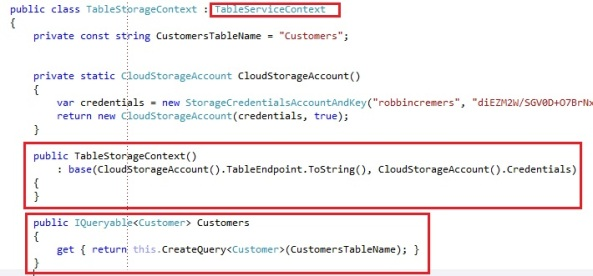 Windows Azure Table Storage, a scalable NoSQL data store with OData support