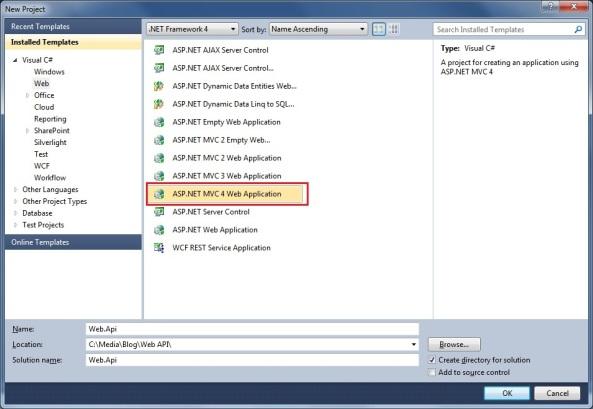 ASP.NET Web API REST services