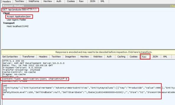 ASP.NET Web Api REST ODATA JSON