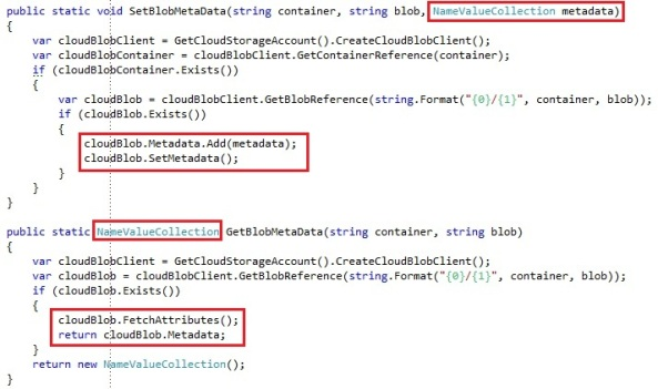Storing and retrieving data with Windows Azure Blob Storage
