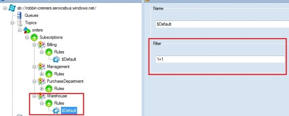 Windows Azure Service Bus messaging with Publish/ Subscribe pattern with topic and subscription