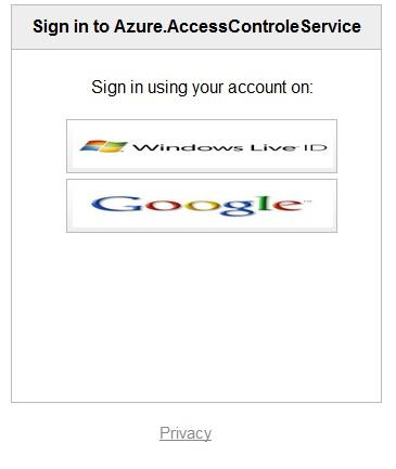 Windows Azure Access Control Service Authentication and Authorization