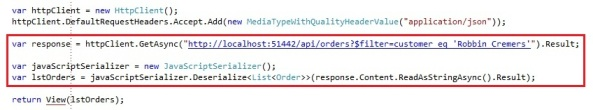 ASP.NET Web API HttpClient with JSON