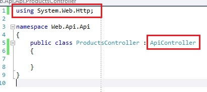 ASP.NET REST Web API with ApiController