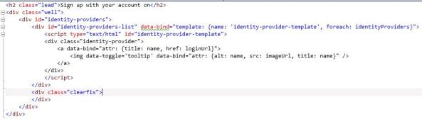 Windows Azure Access Control Service custom HTML